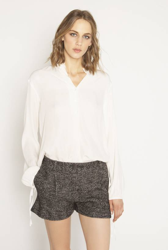 Herringbone, wool crop trousers