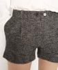 Herringbone, wool crop trousers