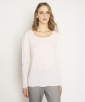 Frilly wool knit top