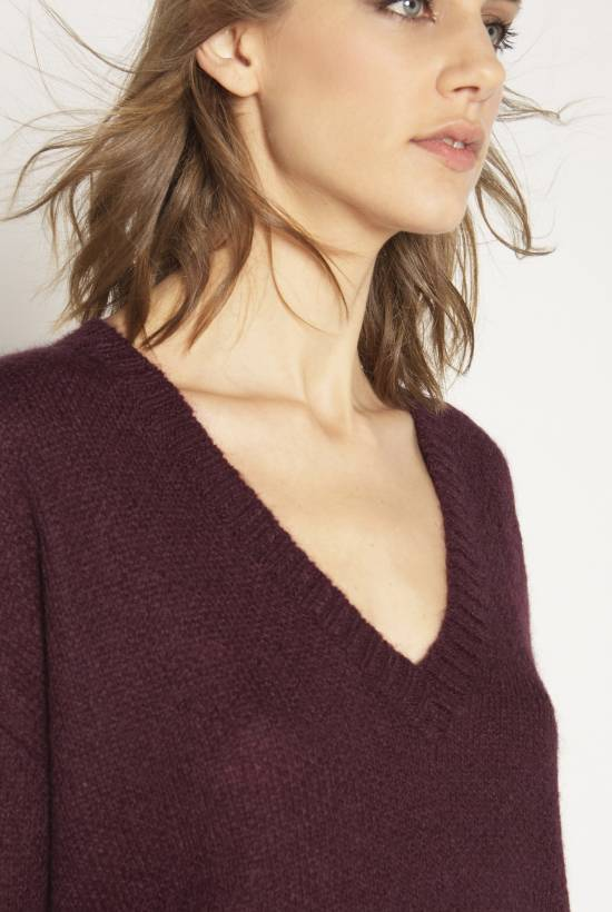 Oversize tricot mohair jersey