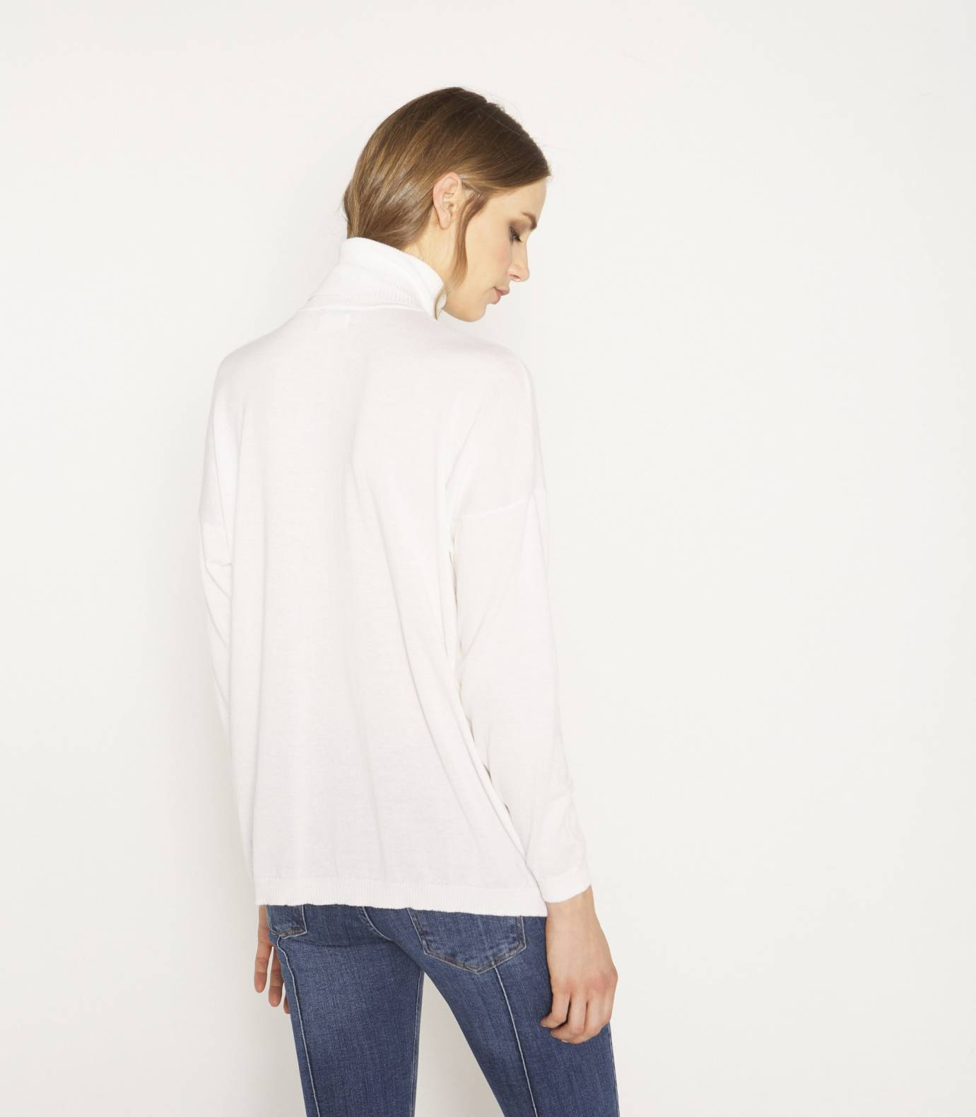 Oversize soft tricot jersey