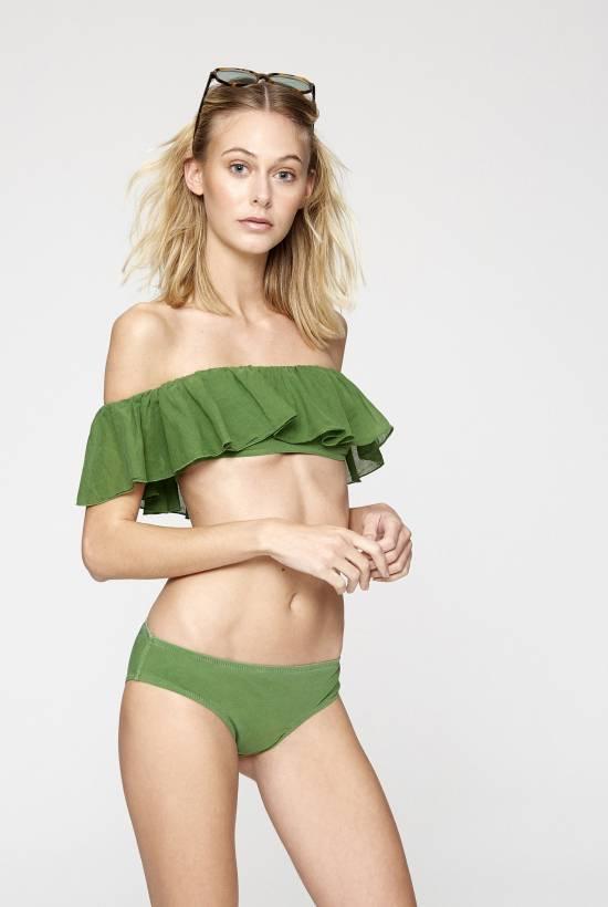 Cotton Lycra Bandeau  Bikini