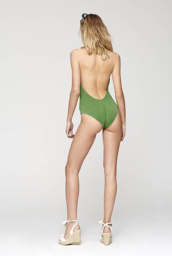 Cotton Lycra One Piece Swimsuit
