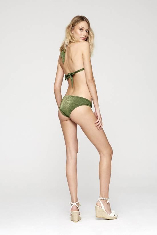 Bikini Top Cuello Brillo