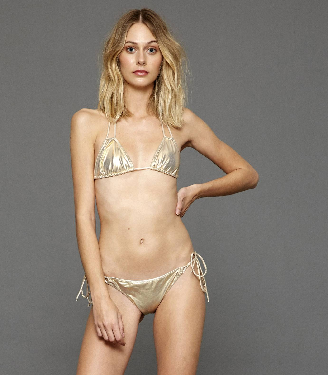 Gold Triangle Bikini