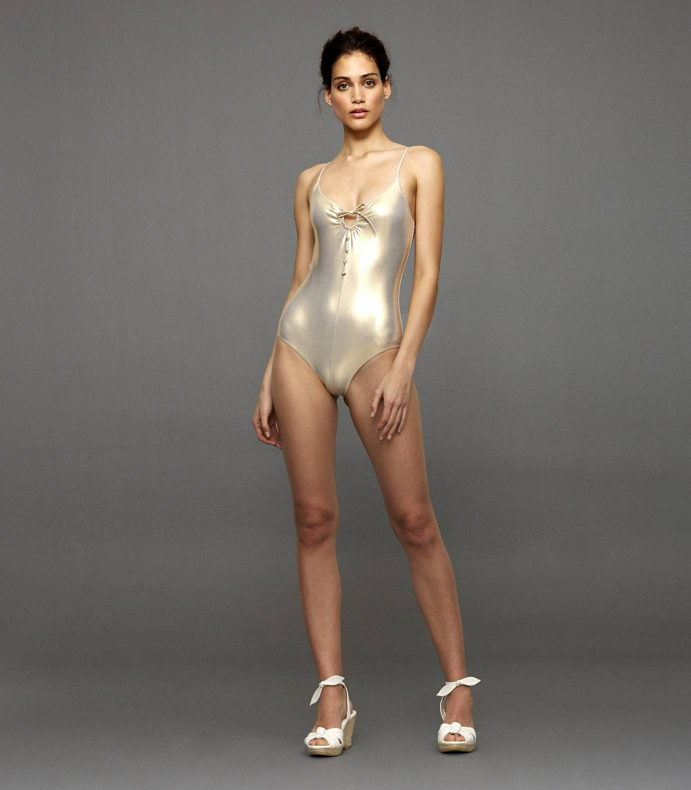 Gold Triangle One Piece Swimsuit