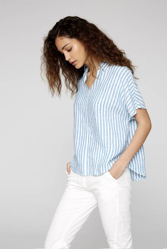 Capri Short Sleeved Striped Shirt