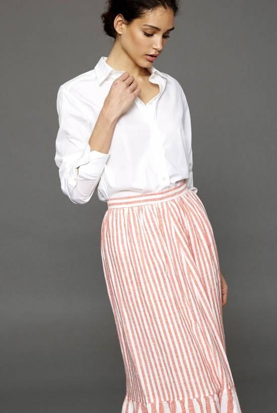 Capri Striped Long Skirt