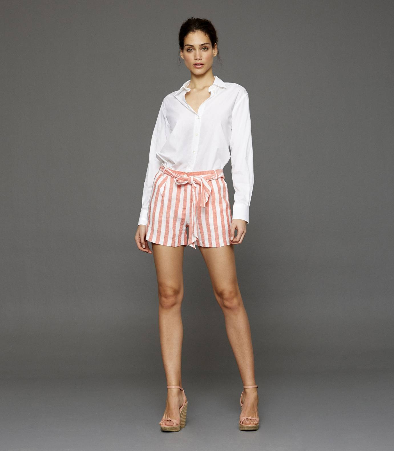 Capri Striped Shorts