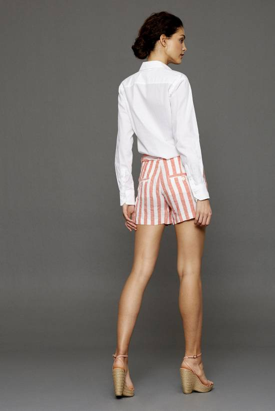 Capri Striped Shorts