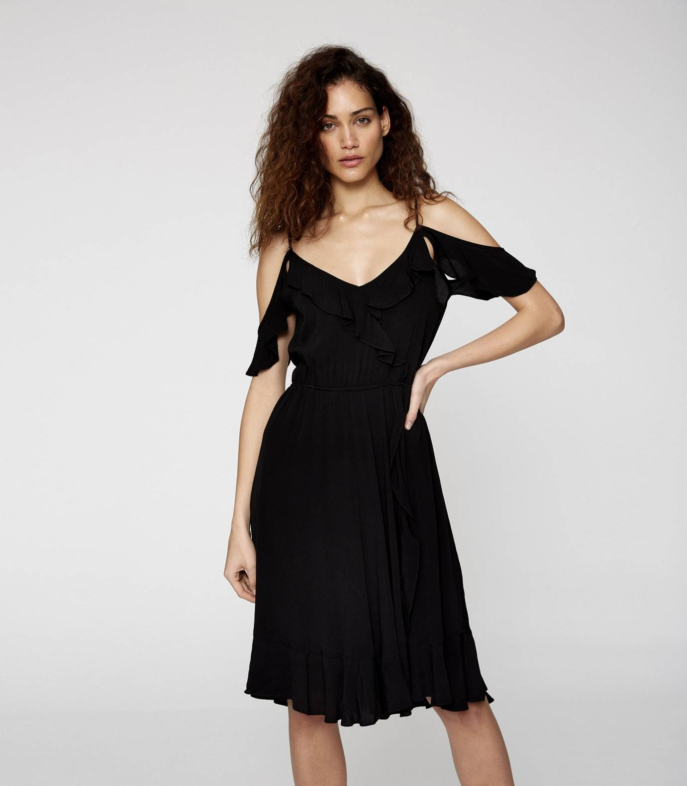 Crepe Viscose Strapped Dress