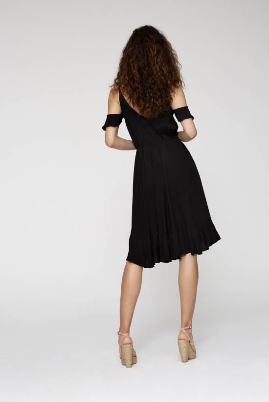Crepe Viscose Strapped Dress