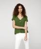 Knit Flamé V-Neck T-Shirt