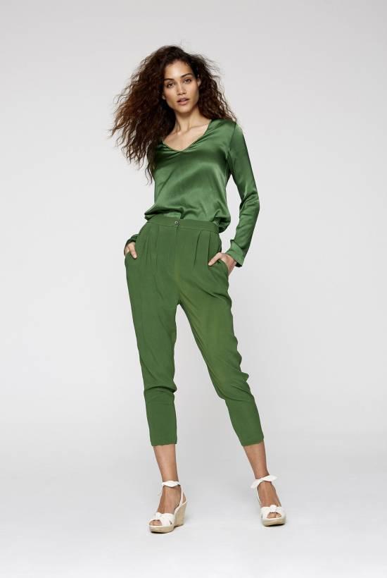 Silk Skinny Trousers