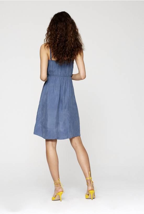 Cupro Strapped Dress
