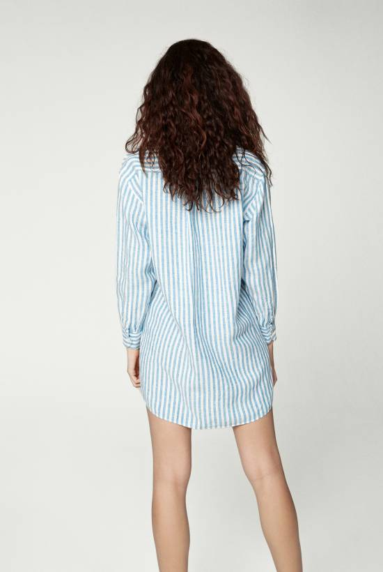 Capri Short Sleeved Striped Tunic
