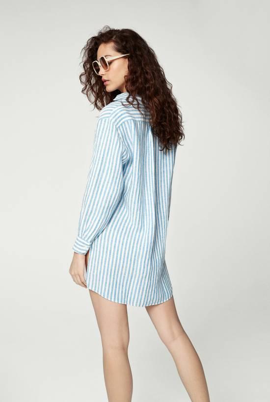 Capri Short Sleeved Striped Tunic