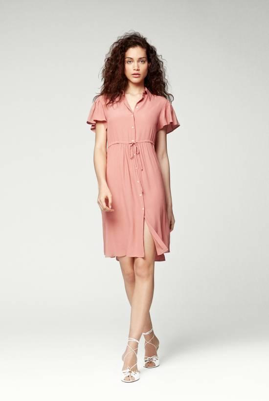 Crepe Viscose Short Sleeved Dress