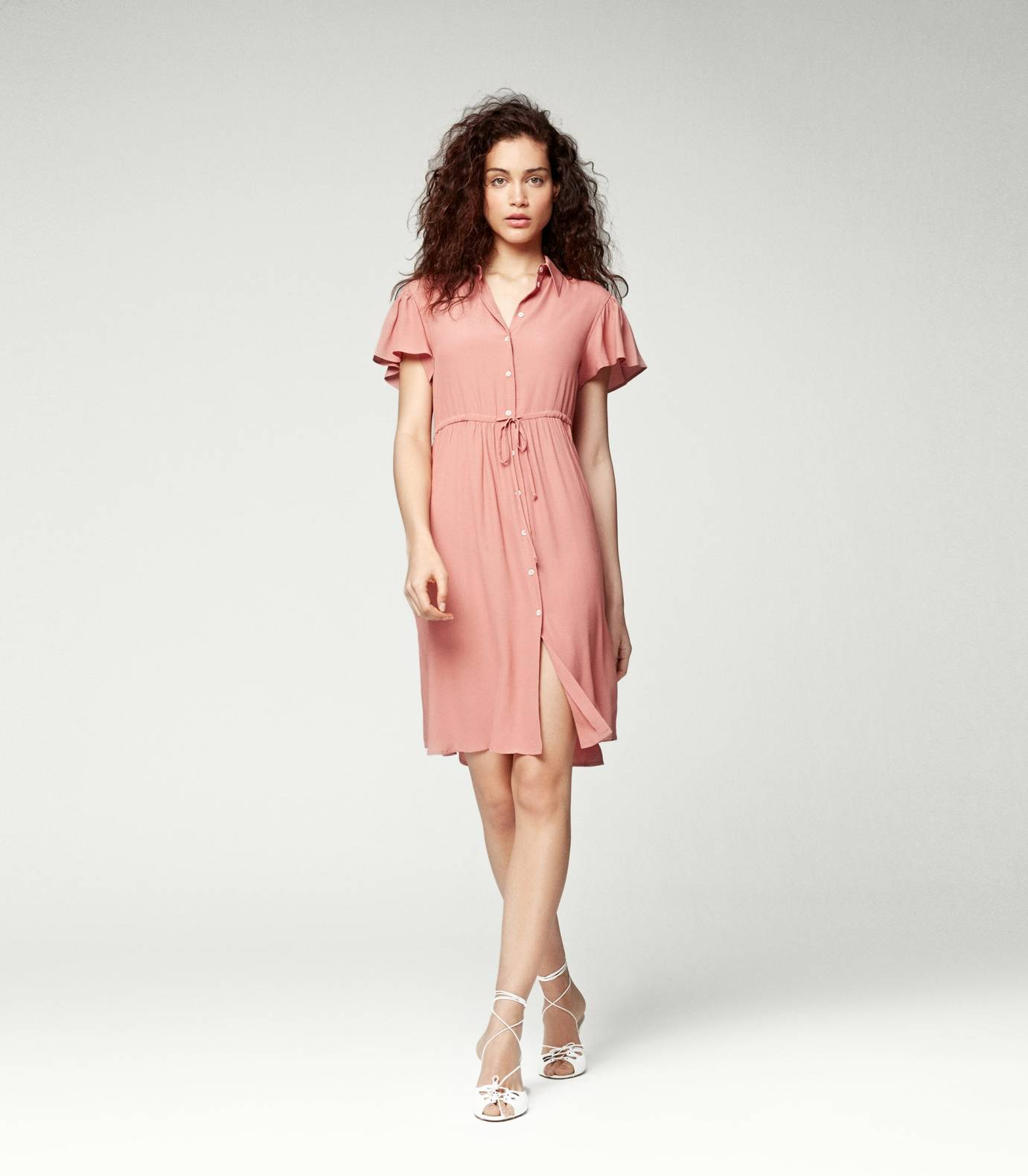 Crepe Viscose Short Sleeved Dress