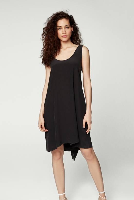 Silk Strapless Dress