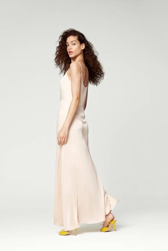 Silk Strapless Long Dress